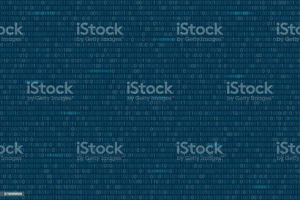 Abstract Binary Code Background Digital Technology Wallpaper