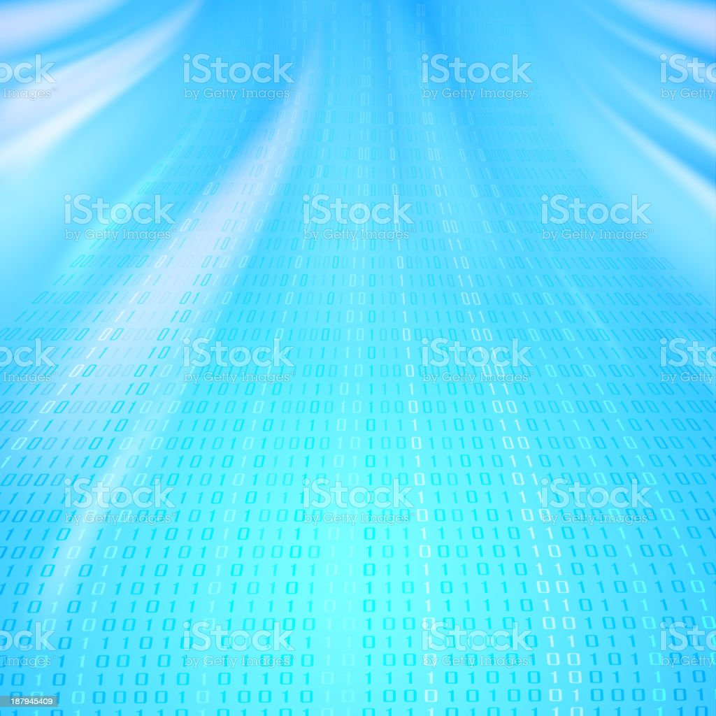 Abstract binary code background of Matrix style royalty-free stock vector art