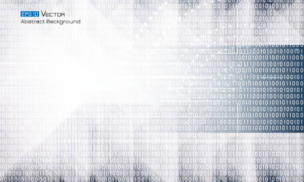 Abstrakte Binärcode – Vektorgrafik