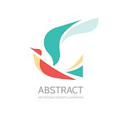 Abstract bird - vector sign concept illustration.