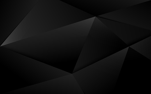 Abstract black 3d chaotic polygonal surface background. Illustration vector