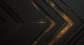 Abstract black and gold background in vector