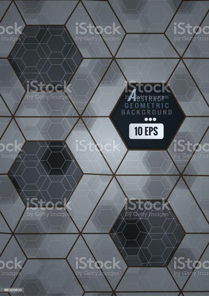 Abstrait Noir Et Gris Carrelage Hexagonal Stock Vecteur Libres De - Carrelage hexagonal gris