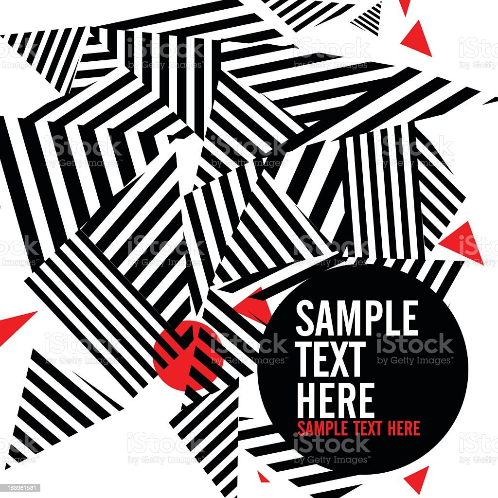 Abstract black and red geometrical background vector art illustration