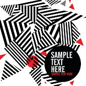 Abstract black and red geometrical background