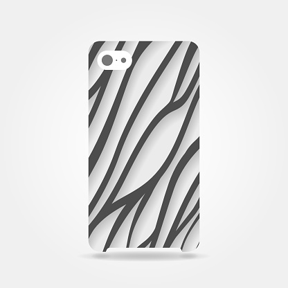 abstract black and white colored striped lines like zebra phone