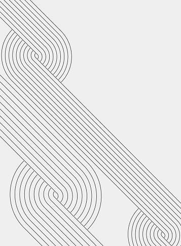 abstract black and white curve arrange stripe line minimalism ornate background