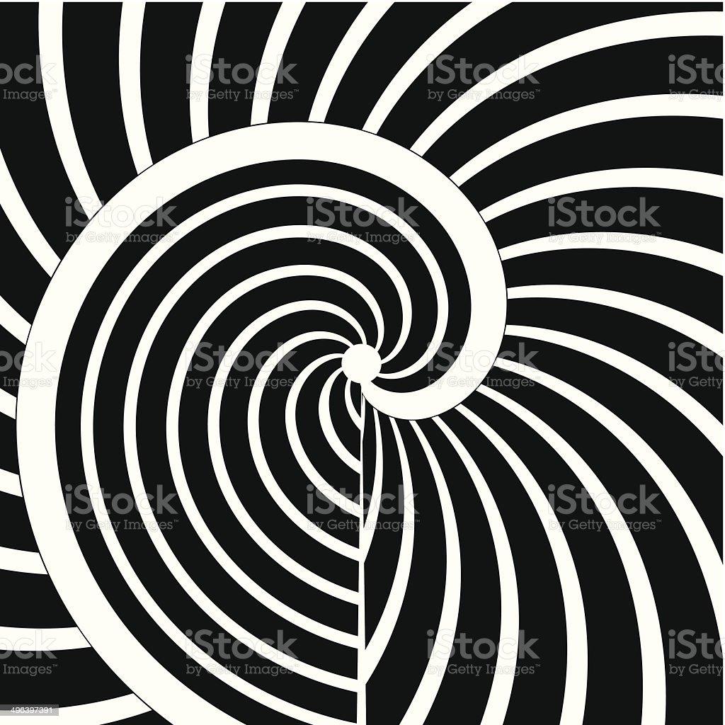 Абстрактный Черный и белый кривой полоску фон - Векторная графика Ёлочные игрушки роялти-фри