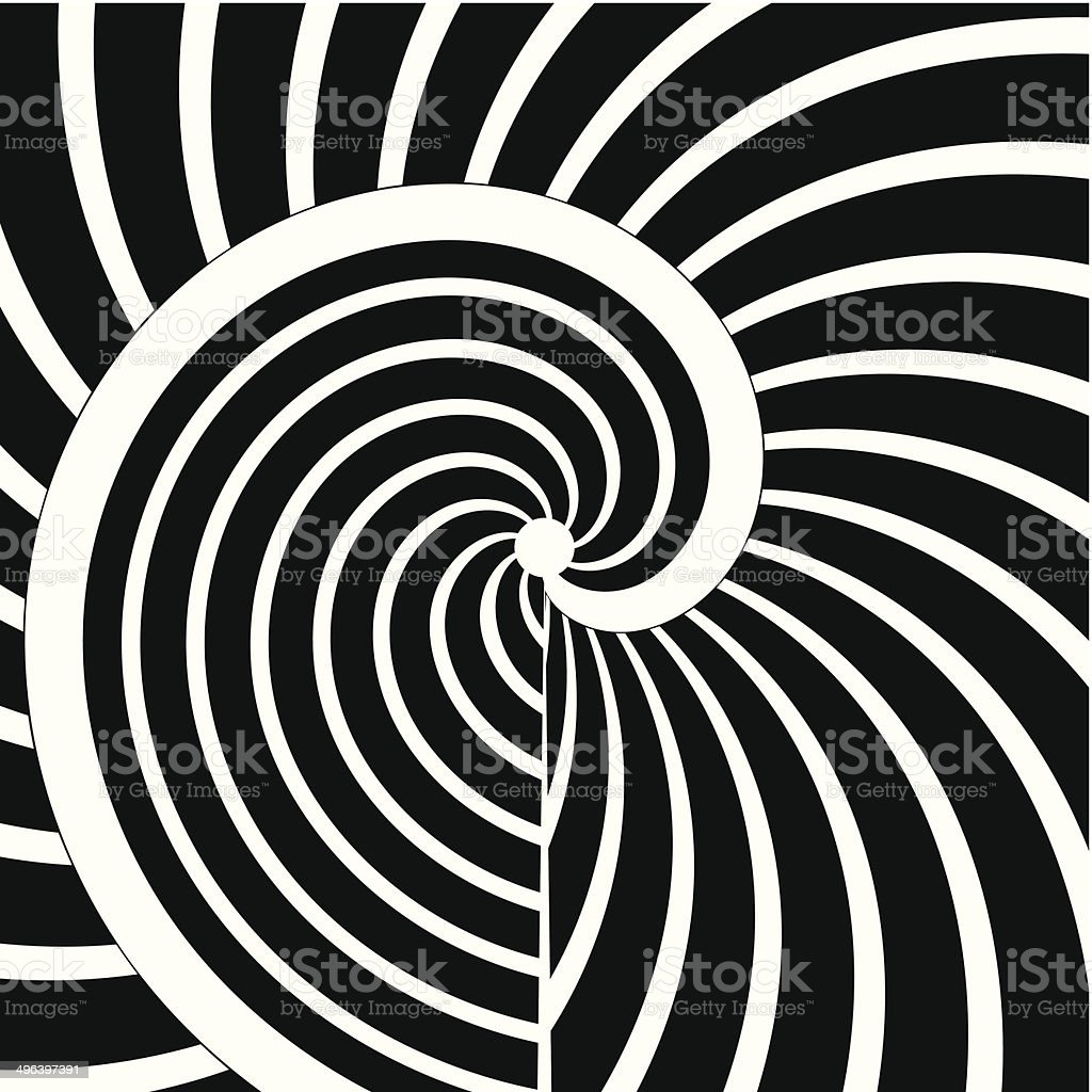 abstract black and white curve stripe pattern background vector art illustration