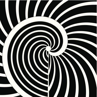 Абстрактный Черный И Белый Кривой Полоску Фон — стоковая векторная графика и другие изображения на тему Ёлочные игрушки