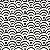 abstract black and white curve stripe pattern background for design