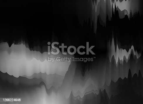 istock Abstract black and white fantasy watercolor painting pattern background 1266224648