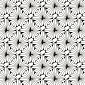 abstract black and white floral pattern background for design
