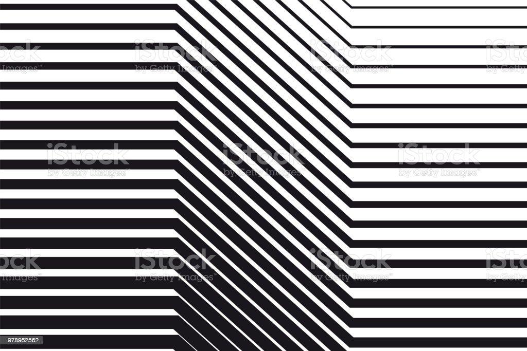 黑白 op 藝術背景 - 免版稅傾斜的圖庫向量圖形
