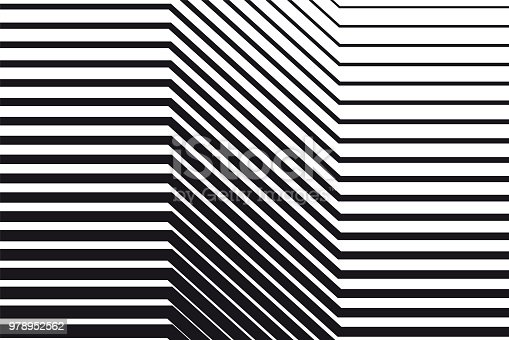 Abstract black and white op art background