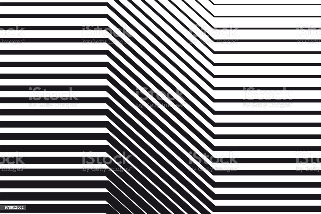 Abstract black and white op art background vector art illustration