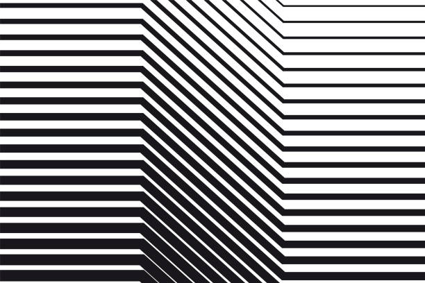 abstract black and white op art background - abstract architecture stock illustrations