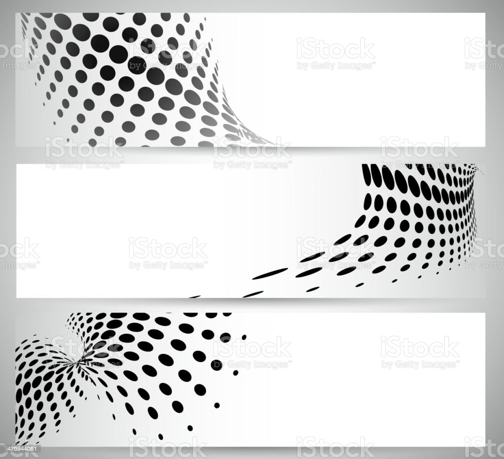 abstract black and white polka dot pattern banner background vector art illustration