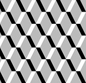 abstract black and white rhombus pattern background