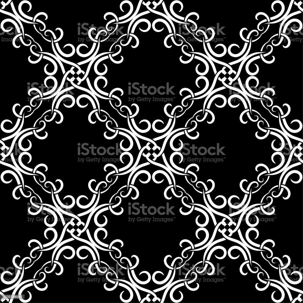 abstrakte schwarz wei nahtlose muster fr textilien stoffe oder tapeten lizenzfreies abstrakte schwarzwei nahtlose - Tapete Schwarz Wei Muster