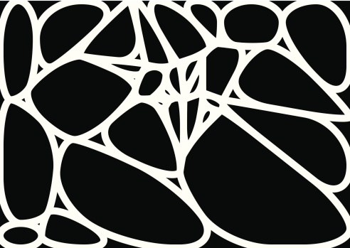 abstract black and white speckle shape background