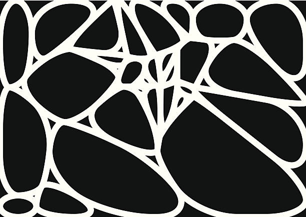 abstract black and white speckle shape background vector art illustration