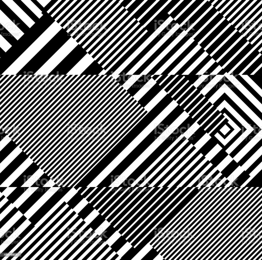 abstract black and white stripe pattern background royalty-free stock vector art