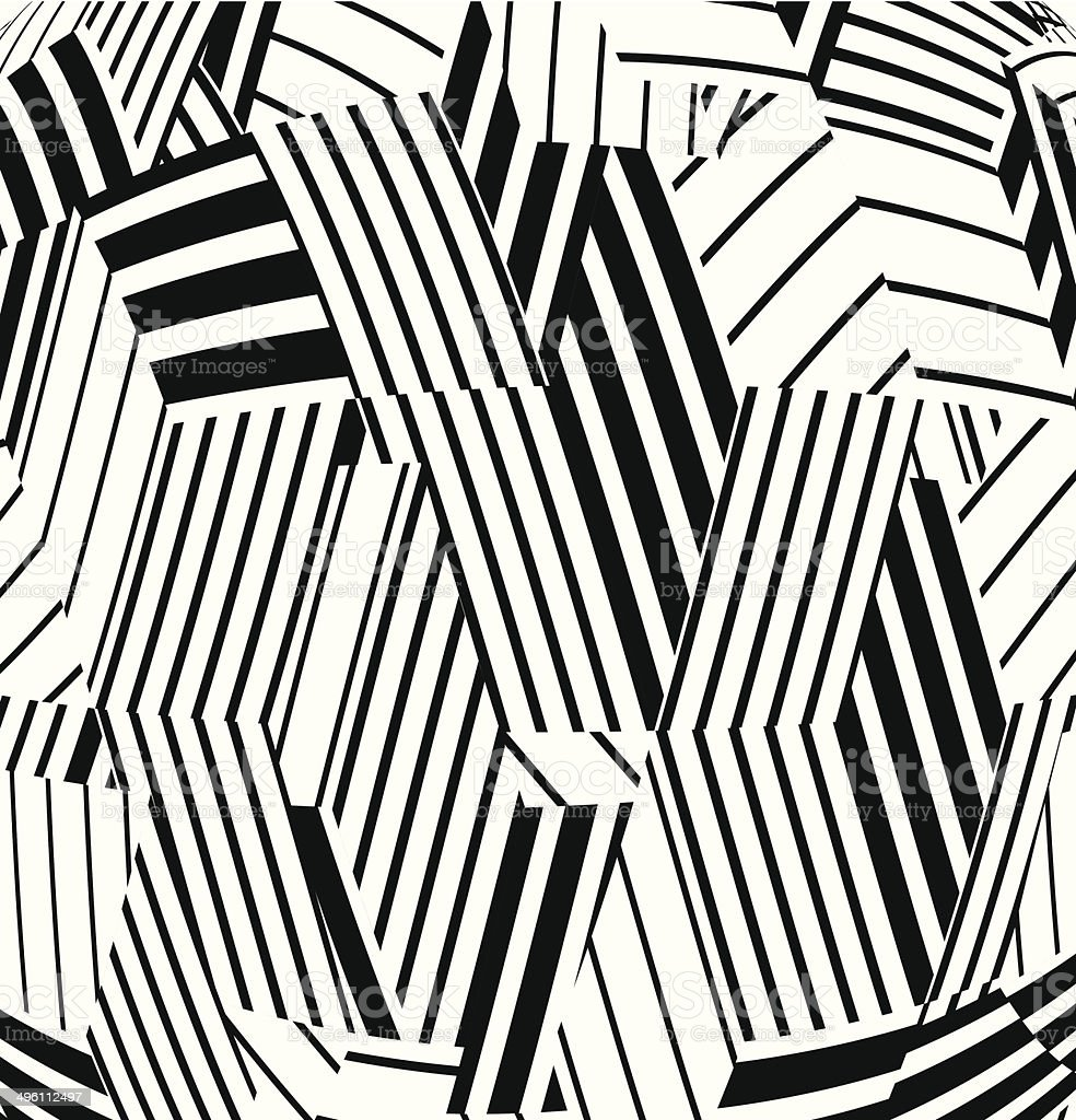 abstract black and white stripe pattern background vector art illustration