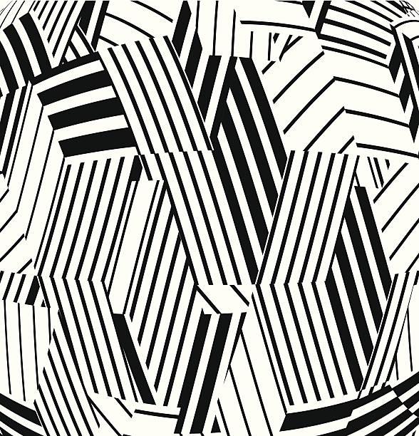 abstrakt schwarz und weiß gestreifte muster hintergrund - stoffmalerei stock-grafiken, -clipart, -cartoons und -symbole