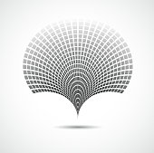 istock abstract black and white technology concept shape background 476944025