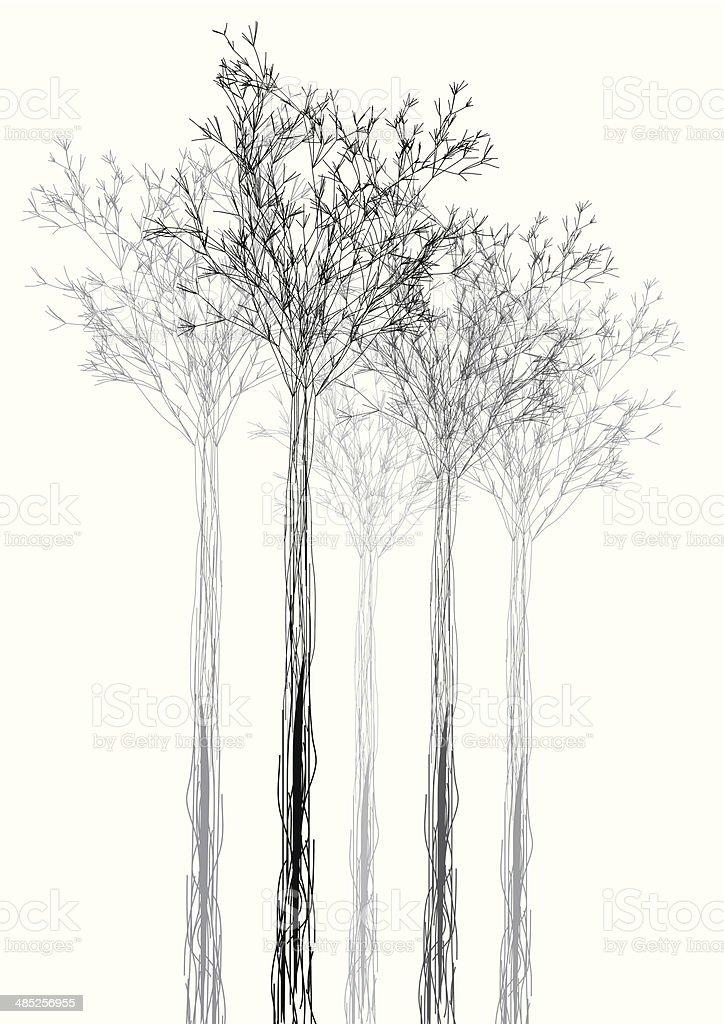 Astratto Bianco E Nero Forme Sfondo Albero Di Immagini Vettoriali