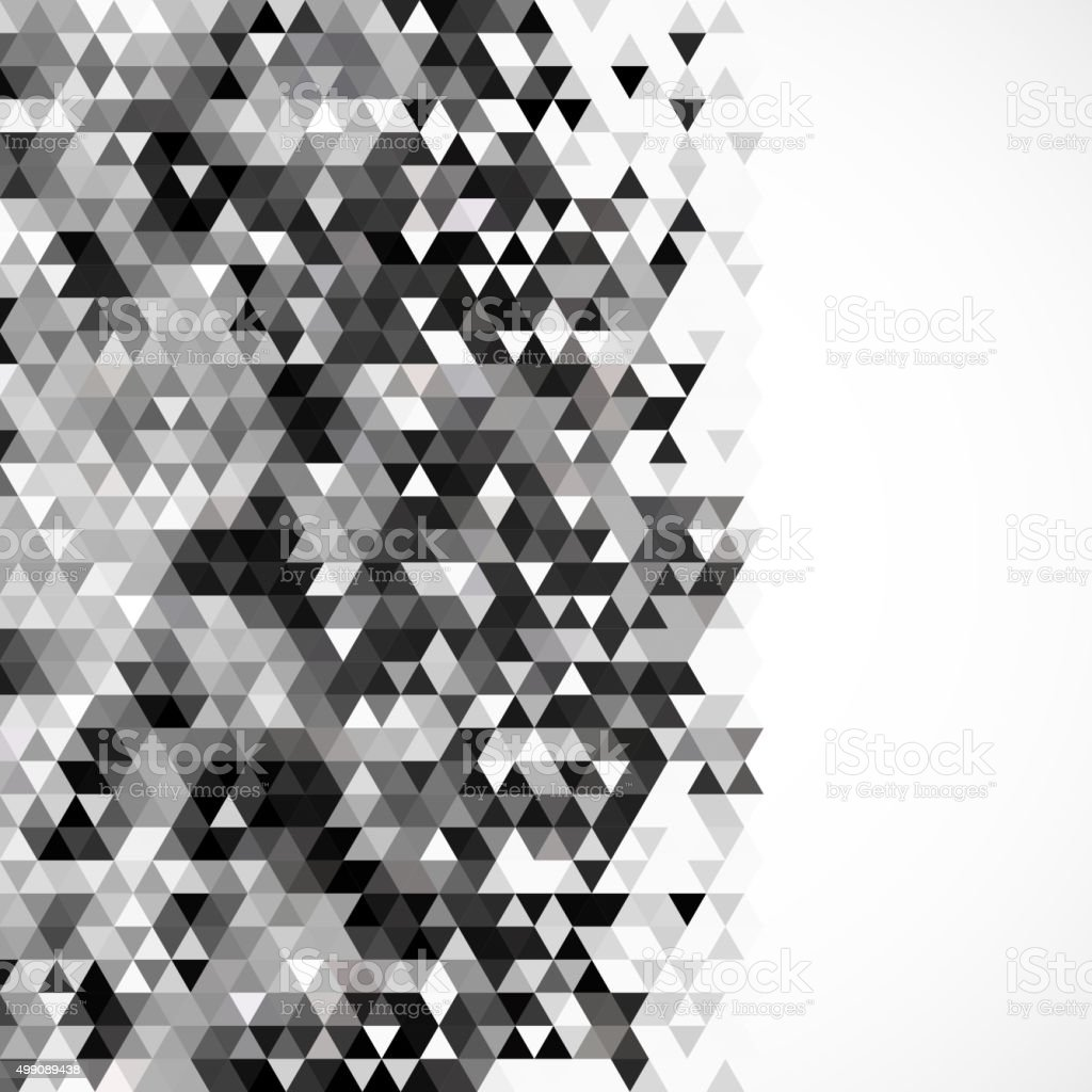 Abstract black and white triangle pattern background stock for Black and white only