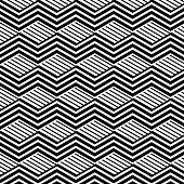 abstract black and white wave stripe pattern background for design
