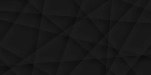 Abstract black background - Geometric texture vector art illustration
