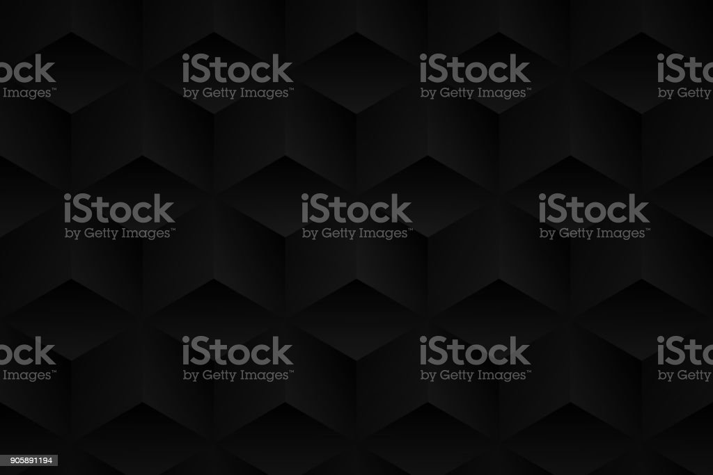 Abstract black background - Geometric texture vector art illustration