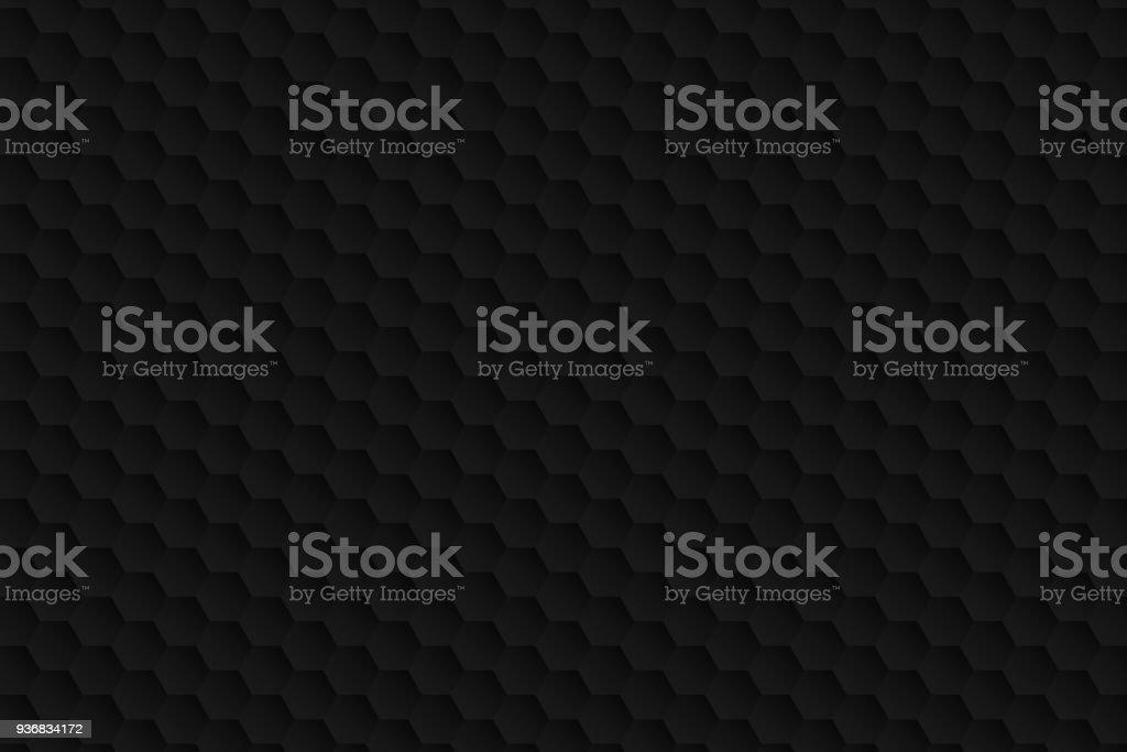 Abstrakter schwarzer Hintergrund - geometrische Struktur – Vektorgrafik