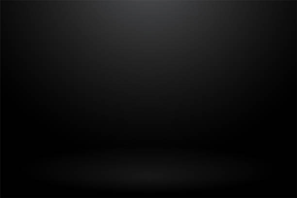 Abstract black background Gradient that looks modern Abstract black background Gradient that looks modern studio stock illustrations