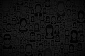 Modern and trendy abstract background. Texture with people patterns for your design (colors used: black, gray). Vector Illustration (EPS10, well layered and grouped), wide format (3:2). Easy to edit, manipulate, resize or colorize.