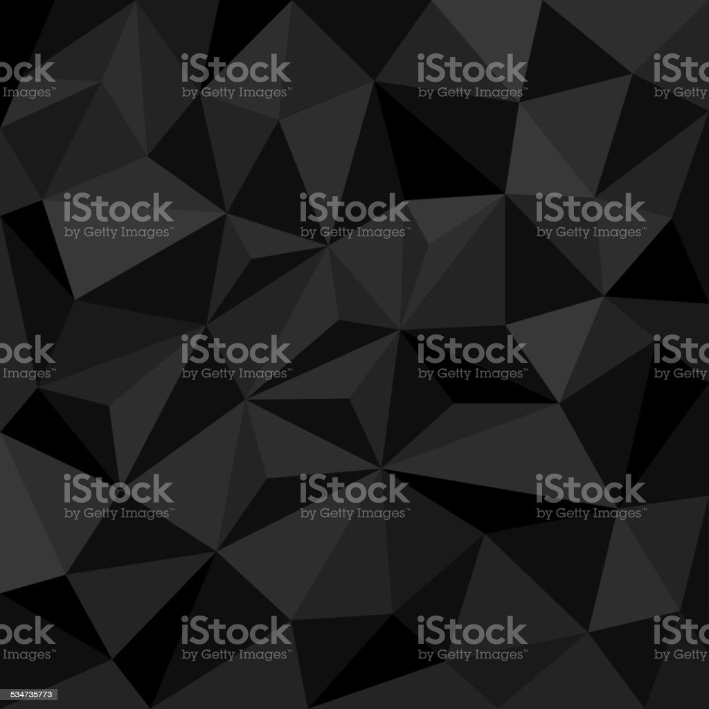 Abstract black background with triangles vector art illustration