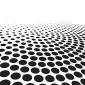 abstract black dots on white