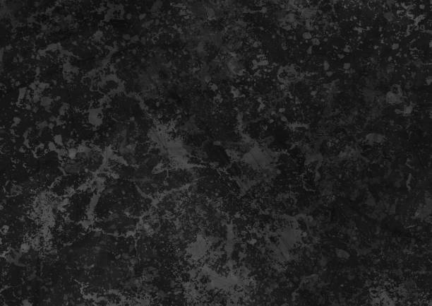 Abstract black grunge concrete wall texture background vector art illustration
