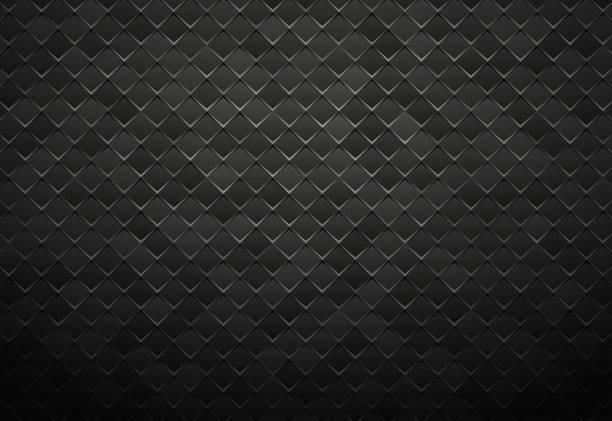 abstract black metal tile background vector art illustration