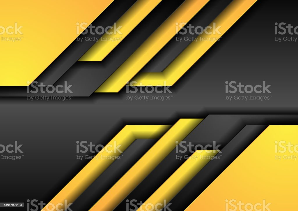 Abstract black orange corporate tech background vector art illustration