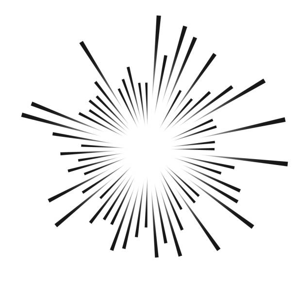 abstract black rays abstract black rays. explosion effect. vector illustration sparkler stock illustrations