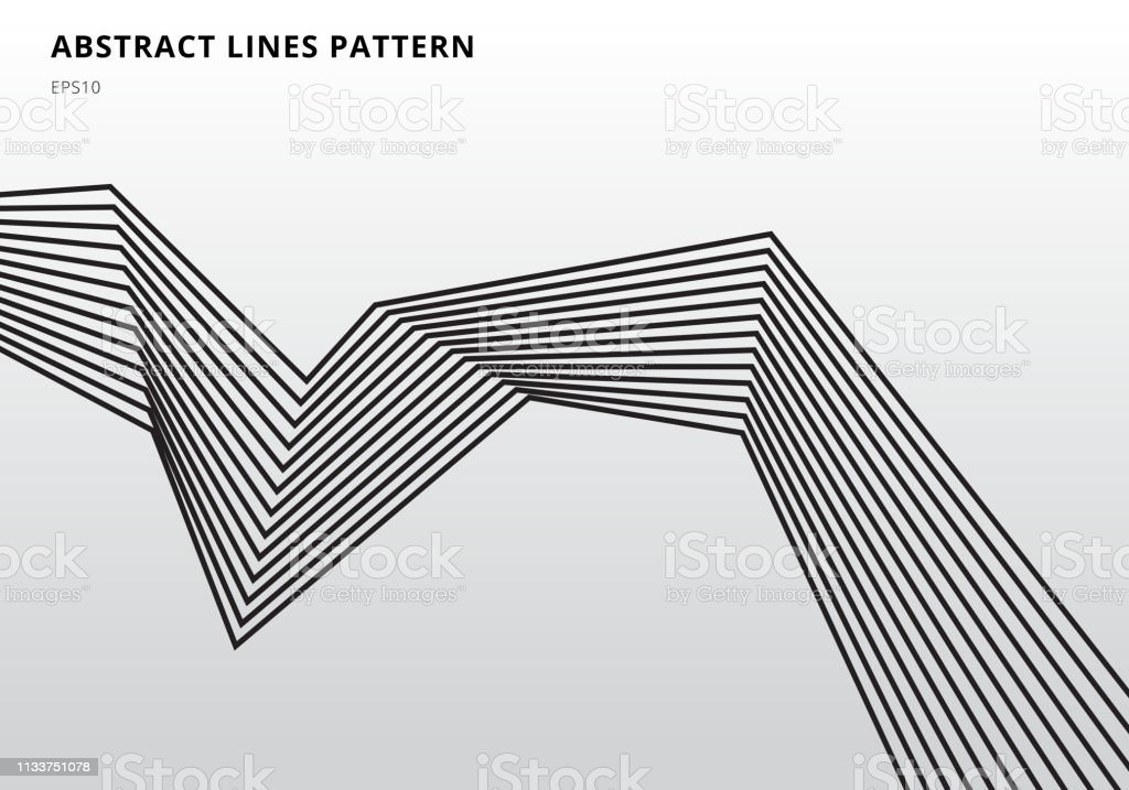 Abstract black stripe lines graphic optical art on white background royalty-free abstract black stripe lines graphic optical art on white background stock illustration - download image now