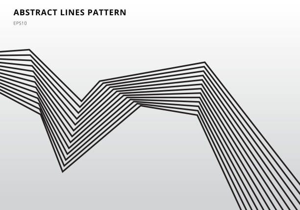 abstrakcyjne czarne linie pasków graficzne grafiki optycznej na białym tle - ruch stock illustrations