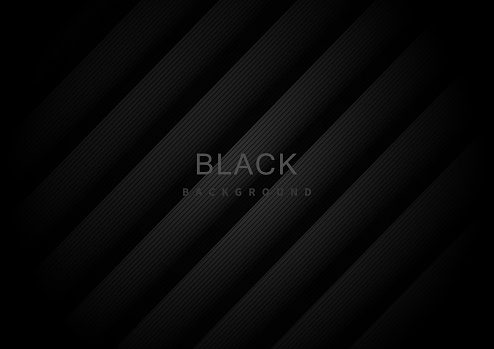 Abstract black stripes diagonal background.