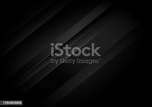 istock Abstract black stripes diagonal background. 1294603953