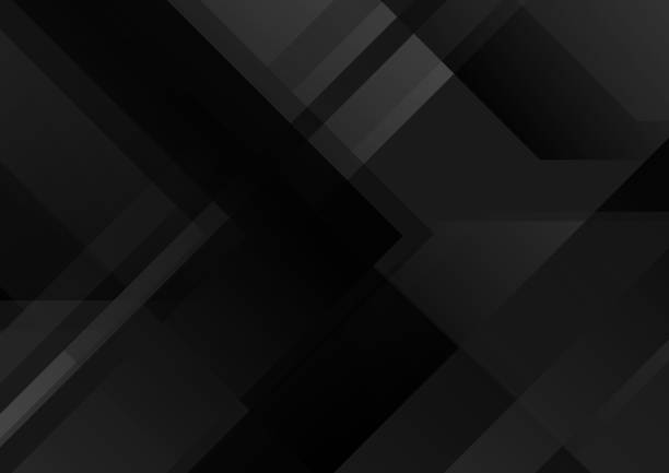Abstract black tech geometric background vector art illustration