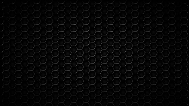 abstract black texture background hexagon - coal stock illustrations